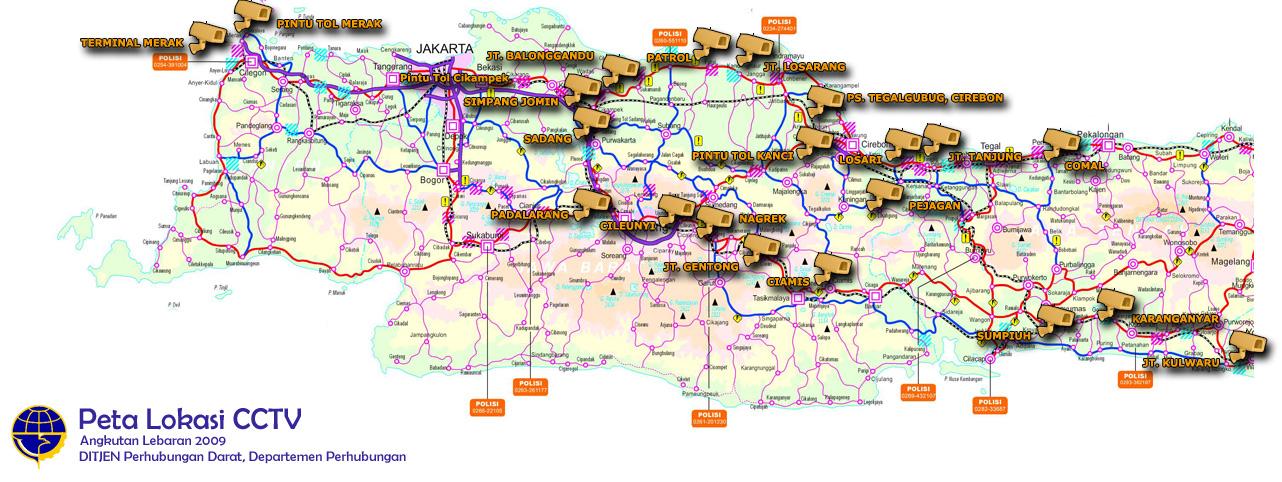 Peta Mudik 2010 lewat kamera CCTV | Pantau Mudik Via CCTV Dep Hub