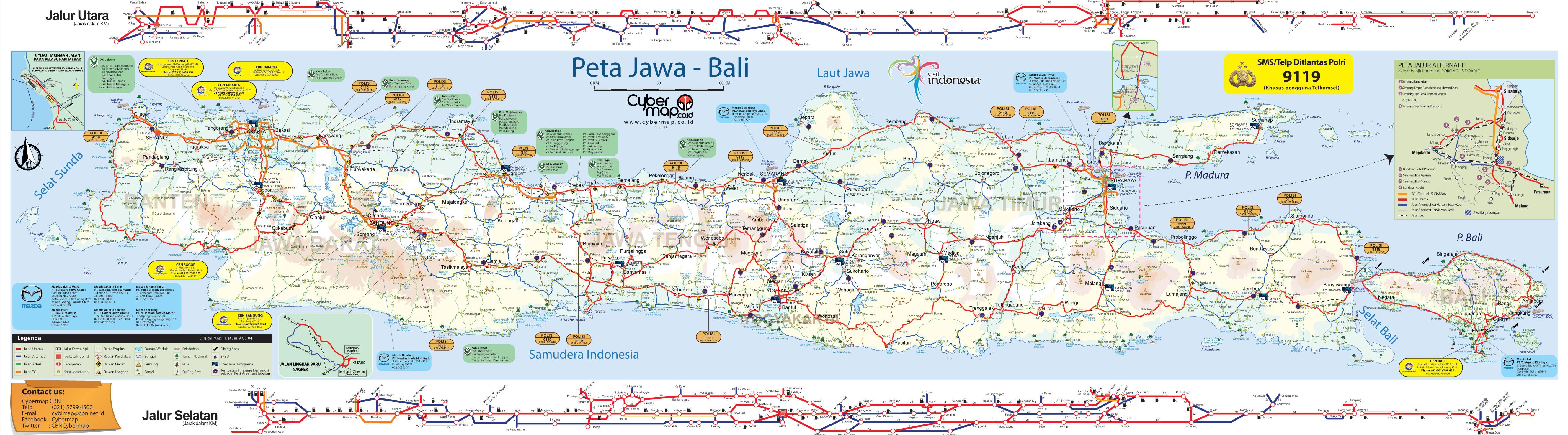 Lengkap Gratis Peta Jalur Mudik 2012 Utara Pantura Siap Gambar