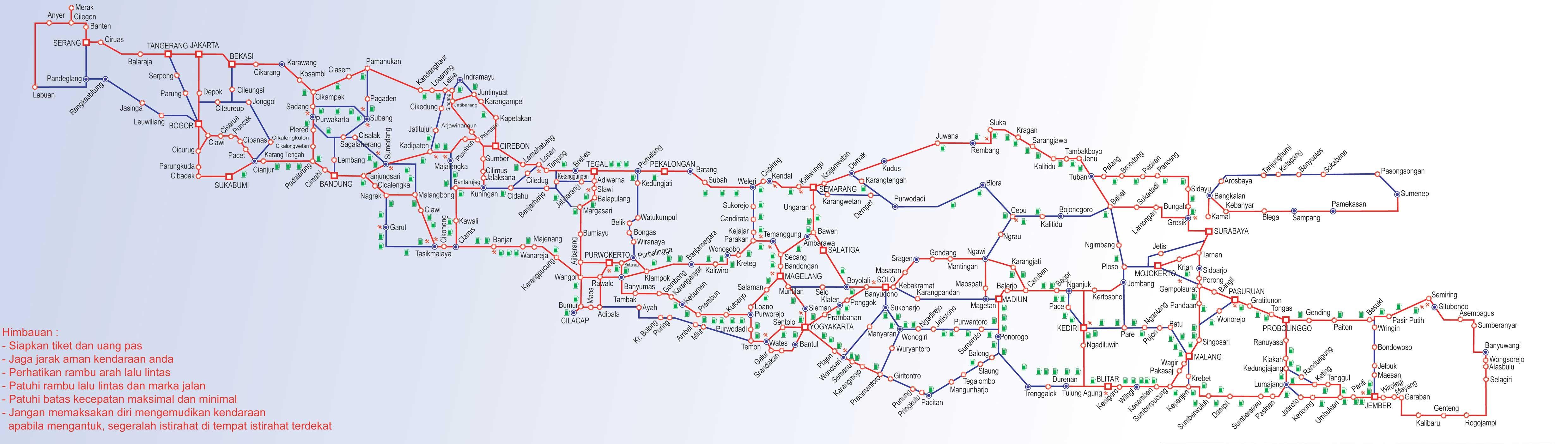 Peta Mudik 2013| Jalur Utara -Jalur Tengah-Jalur Selatan | Jalur Mudik