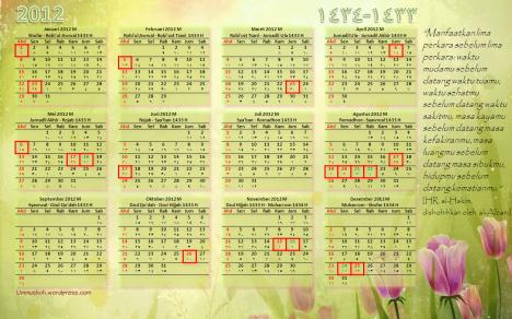 Kalender 2014 Bulan Islam