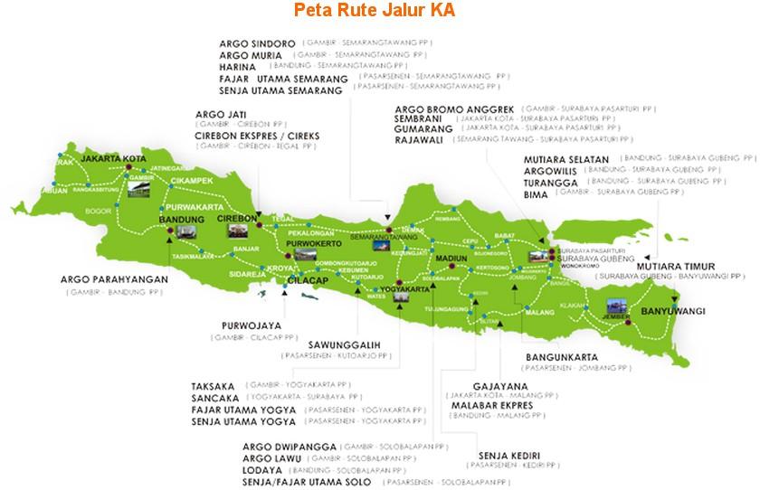 Jadwal KEBERANGKATAN Kereta Api Kelas Bisnis Di Pulau Jawa