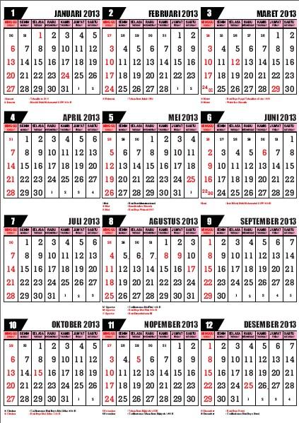 KALENDER ISLAM 1434-1435 HIJRIYAH : DOWNLOAD KALENDER INDONESIA 2013