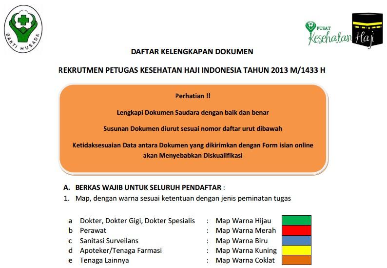 REKRUTMEN PETUGAS KESEHATAN HAJI INDONESIA TAHUN 2013 M/1434 H