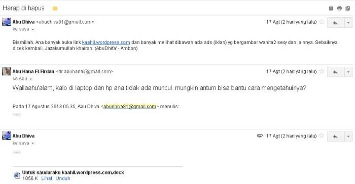 ada spam di kaahil
