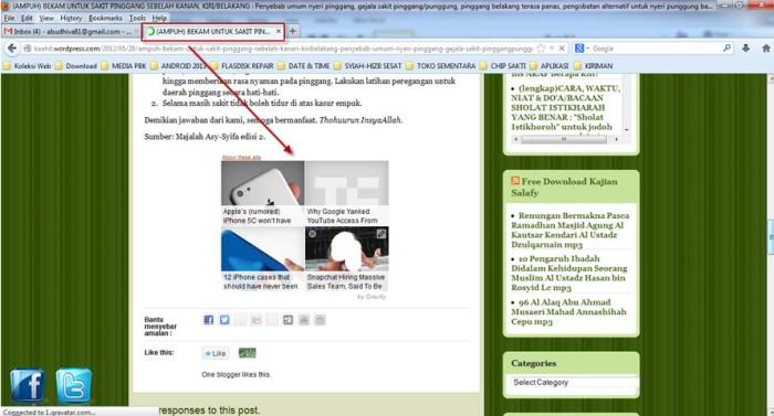 spam di blog kaahil2