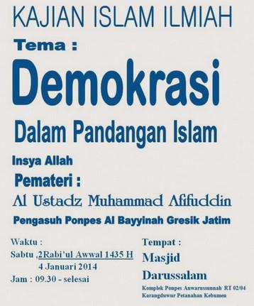 a demokrasi dalam islam